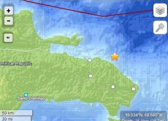 Temblor de 3.3  grados Richter al este de Miches